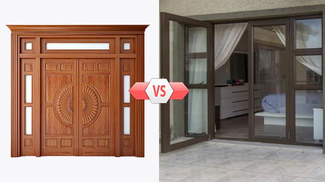 So sánh cửa nhôm và cửa gỗ, nên chọn loại nào ?