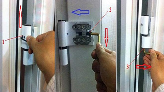 Khắc phục cửa nhôm kính bị xệ đơn giản