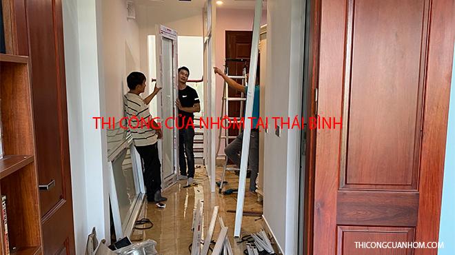 Thi công cửa nhôm tại Thái Bình