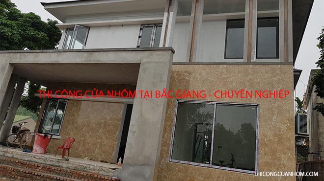 Thi công cửa nhôm tại Bắc Giang