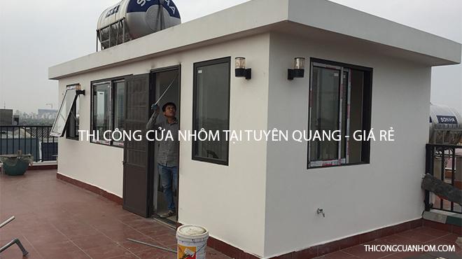 Thi công cửa nhôm tại Tuyên Quang