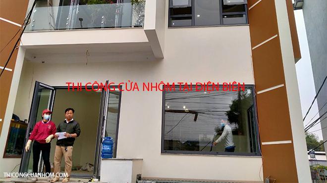 Thi công cửa nhôm tại Điện Biên